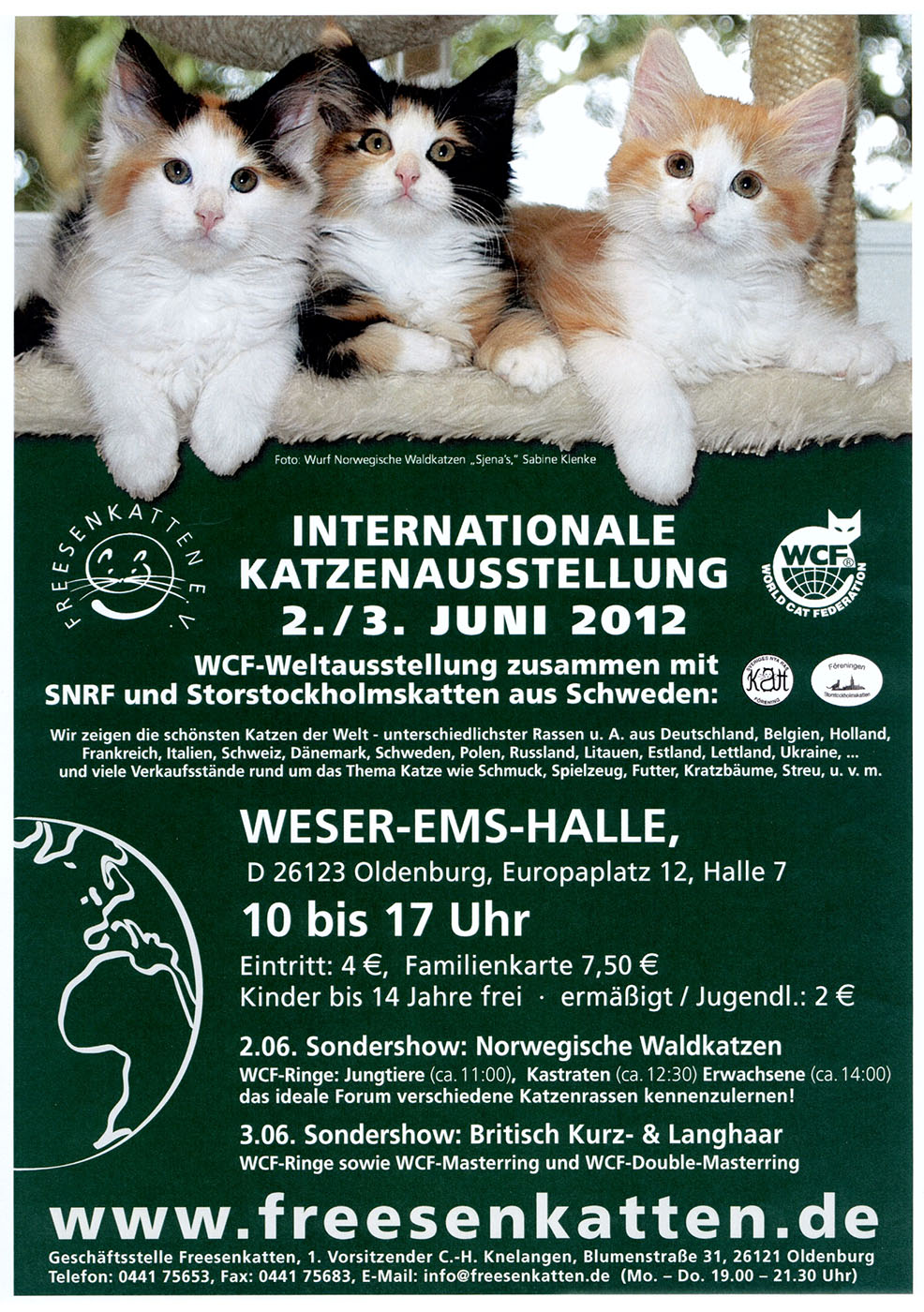 Internationale Katzenausstellung der Fressenkatten in Oldenburg